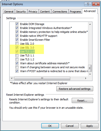 "Prevent ""security certificate"" error messages"