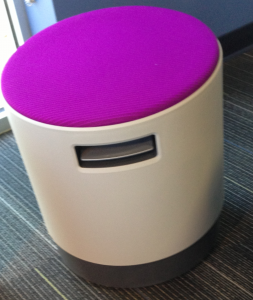 The Buoy Chair comes in a variety of colors and fabrics.