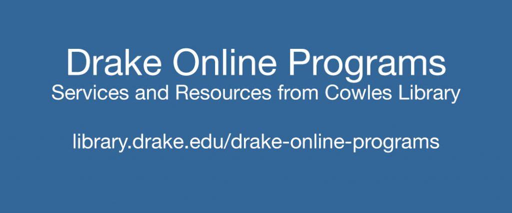 Drake Online Programs