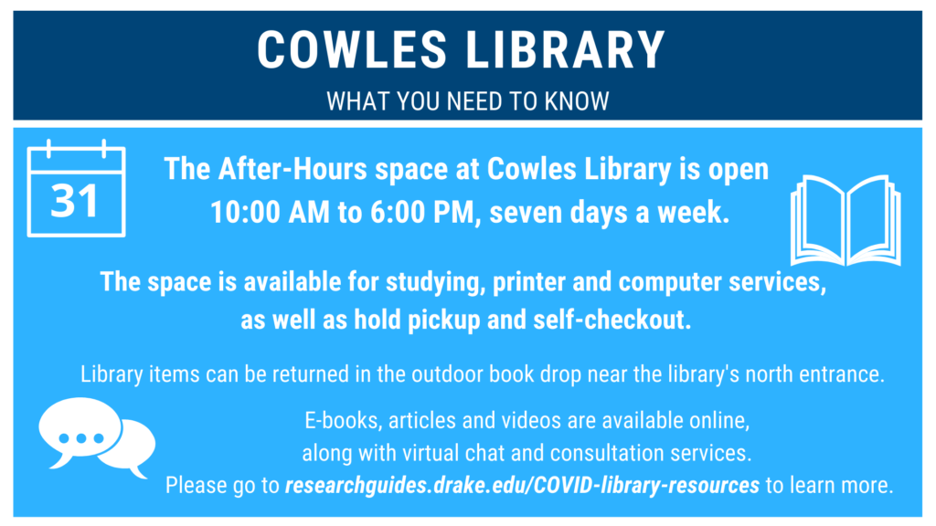 Cowles J-Term Hours
